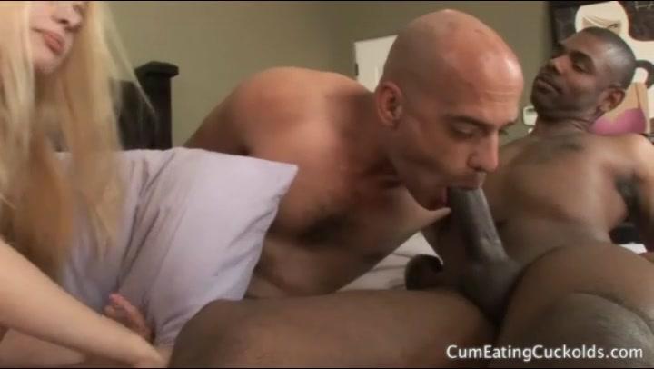 Crossdresser Sucks Black Cock