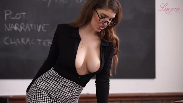 Shaking, support. tits fall out in class that interrupt