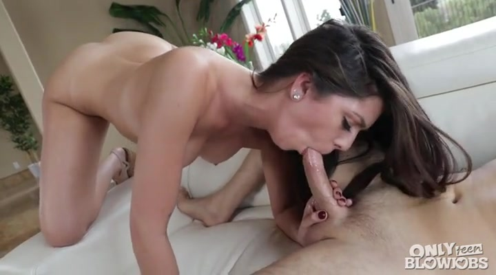 Young and beautiful girl gives a terrific blowjob