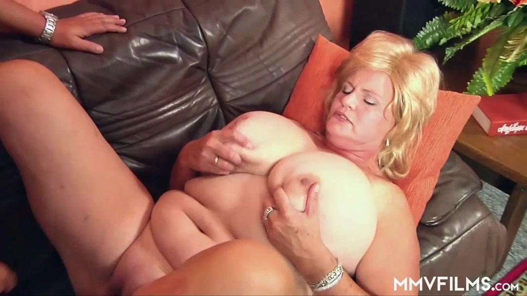 Granny has huge tits