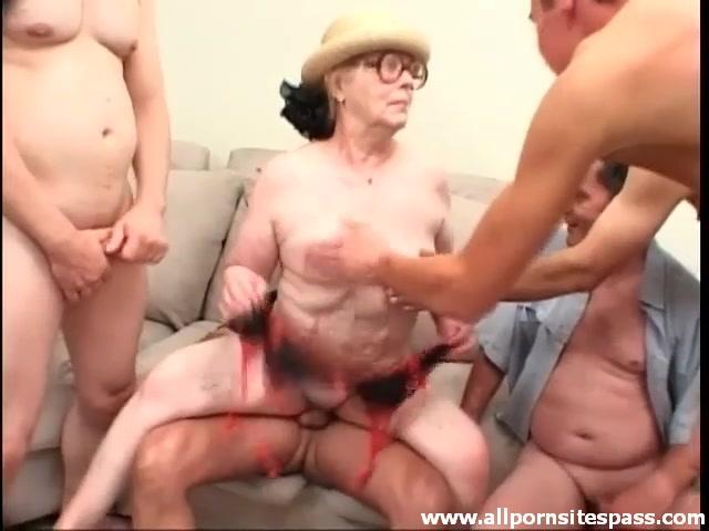 Black Man Fucks Old Lady