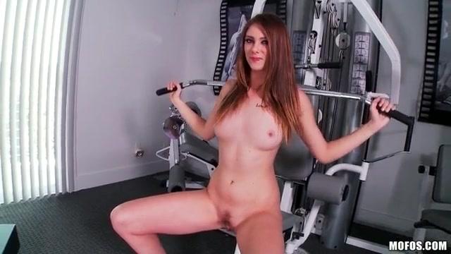 girl nude in the treadmill